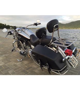 Guidão Beach Bar Robust - Harley-Davidson Softail Fat Bob  - 3 Polegadas - Inox Polido