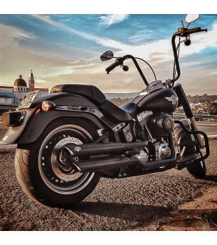 Guidão Ape Hanger Classic Robust -Harley-Davidson Fat Boy - 08 a 18 polegadas - Preto