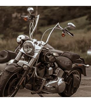 Guidão Diablo Classic Robust - Harley-Davidson Fat Boy de 08 à 18 polegadas - Inox Polido
