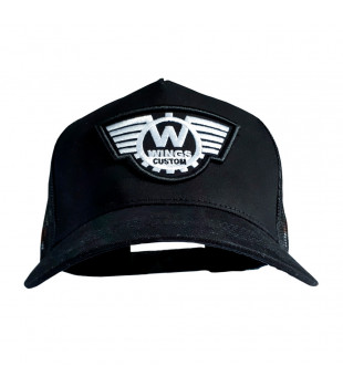 Boné Old Custom Trucker Preto - Wings Custom