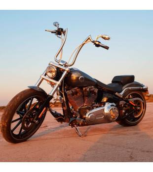 Kit Rider: Guidão Diablo Inox Polido + Cabos de Comando + Frete Grátis | para motos Com Acelerador Eletrônico