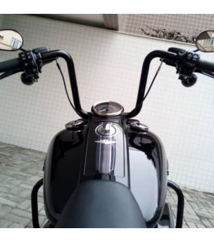 Kit Rider: Guidão Ape Hanger Preto + Cabos de Comando + Frete Grátis | para motos Com Acelerador Eletrônico