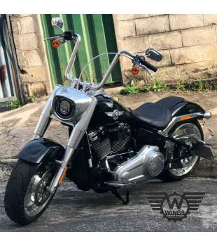 Kit Rider: Guidão Ape Hanger Inox Polido + Cabos de comando + Frete Grátis | para motos Com Acelerador Eletrônico