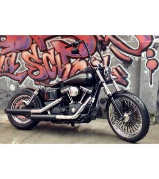 Guidão King Classic Robust - Harley-Davidson Dyna - 08 a 18 polegadas - Preto