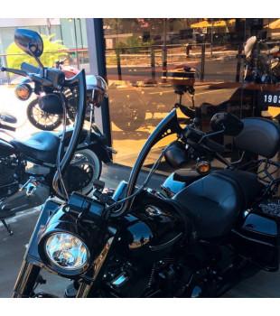 Kit Rider: Guidão Diablo Preto + Cabos de Comando + Frete Grátis  | para motos Com Acelerador Eletrônico