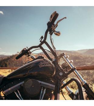 Guidão Sun Bar Robust - Harley-Davidson Linha Sportster - 8 à 16 Polegadas - Inox Polido