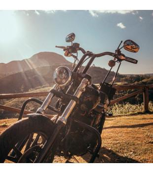 Guidão Sun Bar Robust - Harley-Davidson Softail Street Bob - 8 à 16 Polegadas - Inox Polido