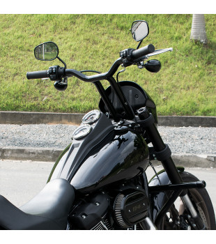 Guidão Sun Bar Pullback Robust - Harley-Davidson Low Rider S - 8 à 16 Polegadas - Inox Polid