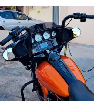 Kit Rider: Guidão Ape Hanger + Cabos de Comando + Frete Grátis - Para motos com Embreagem Hidráulica - Preto