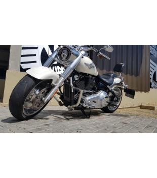 Protetor de Motor King Robust- Harley-Davidson Fat Boy - Inox Polido