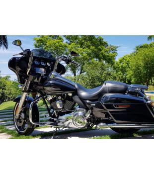 Guidão King Classic Robust - Harley-Davidson Street Glide - 08 a 18 polegadas - Inox Polido
