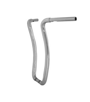 Guidão Ape Hanger Curve Robust - Harley-Davidson Softail Fat Bob - 08 à 18 polegadas - Inox Polido