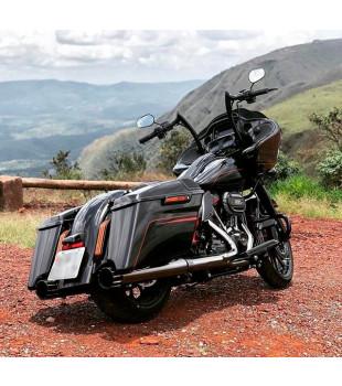 Guidão Diablo Classic Robust - Harley-Davisdon Road Glide - 08 a 18 polegadas - Preto