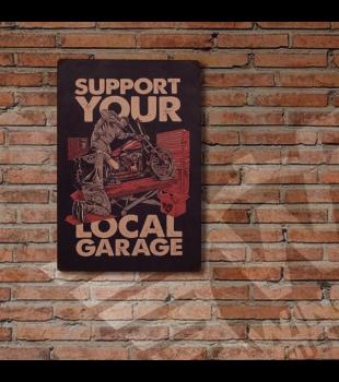 Placa de Metal Support Your Local - Wings Custom