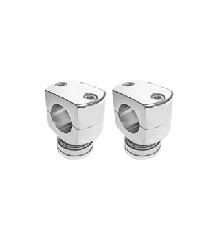 Risers King Robust, 2 polegadas para Guidão 1.1/4 - 1A02 - Alumínio Polido