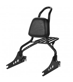 Sissy Bar Destacável King com Bagageiro, 20 pol. Harley Fat Boy  - Preto